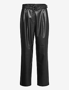 Vegan Leather - Haim - læderbukser - black