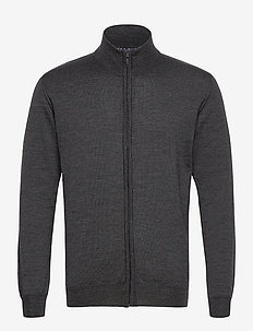 Merino Embr. - Ingram - basic strik - charcoal
