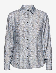 3418 - Latia - långärmade skjortor - pattern