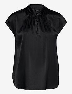 3176 - Prosi Top S - kortärmade blusar - black