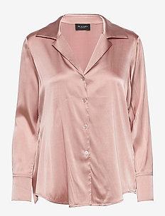 3176 - Adal - long sleeved blouses - dark nude