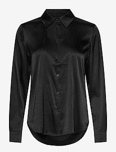 3176 - Latia - långärmade skjortor - black