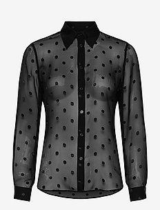 3179 - Latia - long sleeved blouses - black