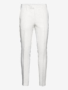 6809 Herringbone - Craig Normal - chino's - optical white