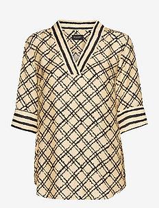 3426 - Ambar Blouse - blouses met korte mouwen - pale yellow