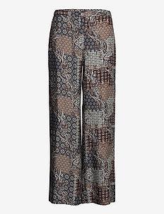3424 - Sasha Flex - uitlopende broeken - pattern