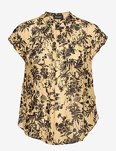 3430 - Prosi Top S - blouses à manches courtes - pale yellow