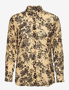3430 - Latia Long - långärmade skjortor - pale yellow