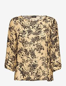 3430 - Nova - long sleeved blouses - pale yellow