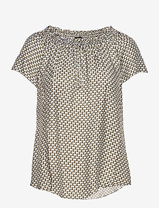 3437 - Astride Top - blouses met korte mouwen - blue