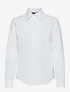 8727 W - Sandie New - långärmade skjortor - optical white
