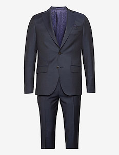 Prunella Mohair - Star Napoli-Craig - kostuums met enkele rij knopen - medium blue