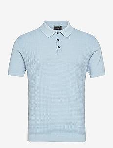 5445 - Retro Polo - korte mouwen - blue