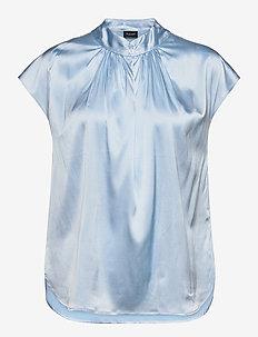 3176 - Prosi Top S - blouses met korte mouwen - light blue