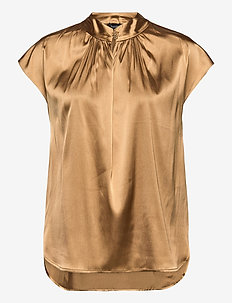 3176 - Prosi Top S - blouses à manches courtes - light camel