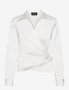 3176 - Wrap - långärmade blusar - off white