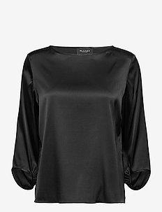 3176 - Nova - long sleeved blouses - black