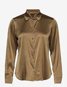 3176 - Latia - overhemden met lange mouwen - light camel