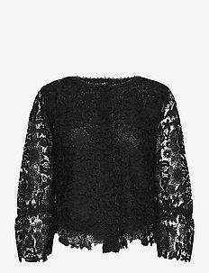 3180 - Bala Cuff - long sleeved blouses - black