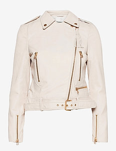 Soft Lamb Leather - Antille - leren jassen - off white