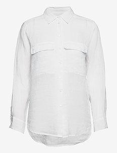 8851 - Nami - långärmade skjortor - optical white
