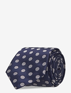 Ties 7 cm - T382 - slips - dark blue/navy