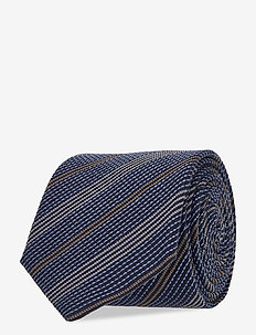 Ties 7 cm - T383 - slips - medium blue