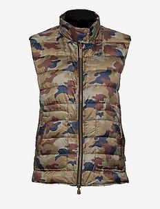 7441 WW - Scottie - puffer vests - camo print