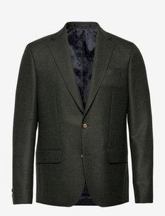 6135 Hopsack - Sherman Napoli. Norm - single breasted blazers - green