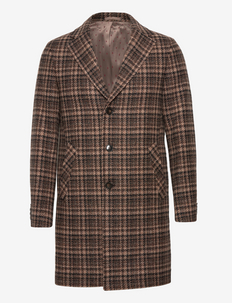 7443 - Retro Coat - manteaux de laine - dark brown