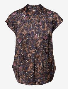 3442 - Prosi Top S - blouses met korte mouwen - medium blue