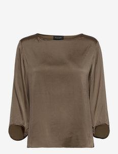 3176 Matt - Nova - long sleeved blouses - golden brown