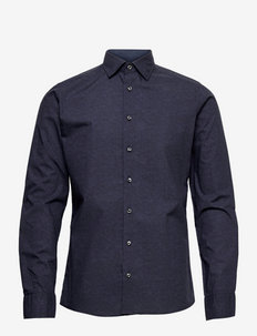 8669 - Iver 2 Soft - linnen overhemden - medium blue