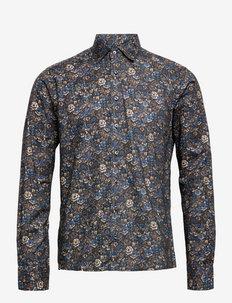 8697 - State NC 2 - linnen overhemden - medium blue