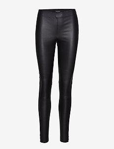Stretch Leather - Shamar - BLACK
