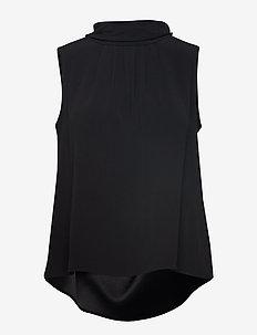 Crepe Satin Back - Prosa Top - BLACK