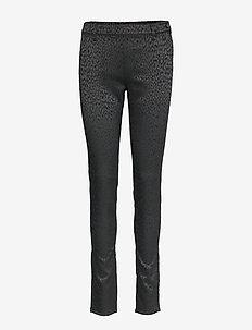6125 - Maja - spodnie rurki - black