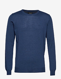 Merino Embr. - Iq - MEDIUM BLUE