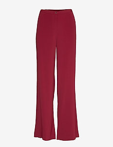 Crepe Satin Back - Sasha Flex - DARK RED