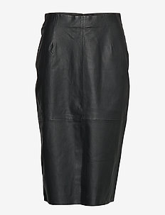 Stretch Leather - Nyx - midi kjolar - black