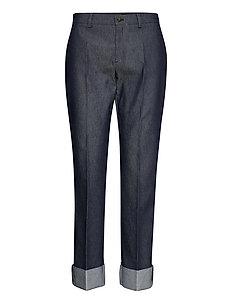 3395 - Dori A Turnup - broeken med straight ben - medium blue