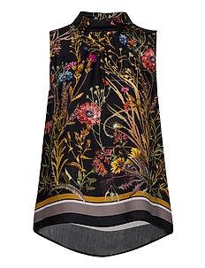 3417 - Prosa Top - blouses zonder mouwen - black