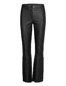 Stretch Leather - Tennie - leren broeken - black