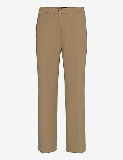 3596 - Sasha Tailored - bukser med lige ben - light camel
