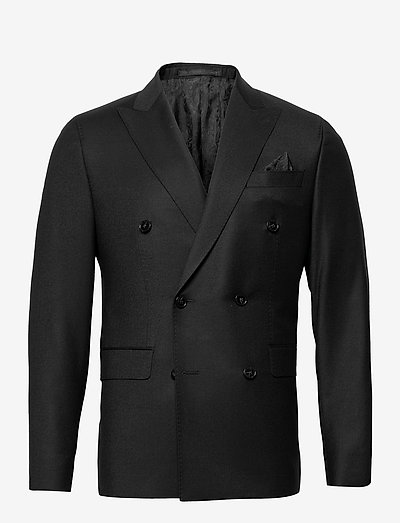 Cashmere Flannel - Star DB Normal - blazers met enkele rij knopen - black