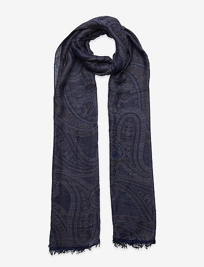 Scarf - tynde tørklæder - medium blue