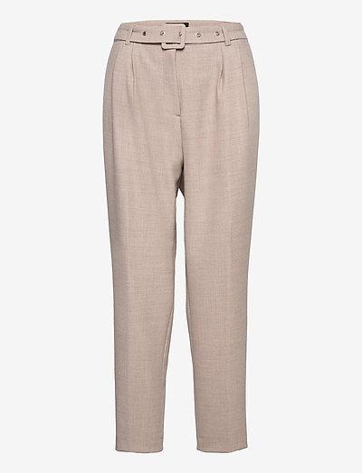 2563 - Haim - bukser med lige ben - ecru/light sand