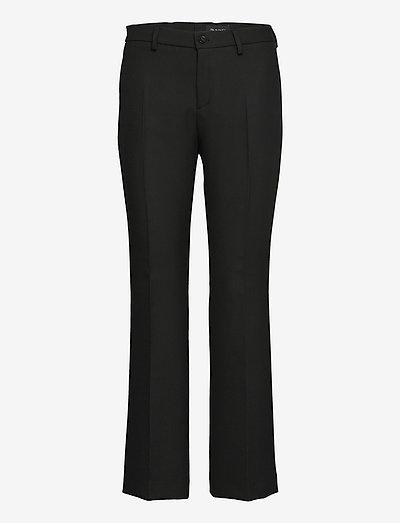 3596 - Dori A Flared - bukser med lige ben - black