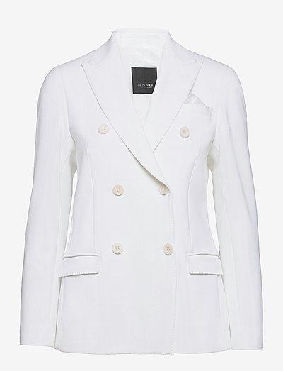 3596 - Rani DB - dobbeltradede blazere - optical white