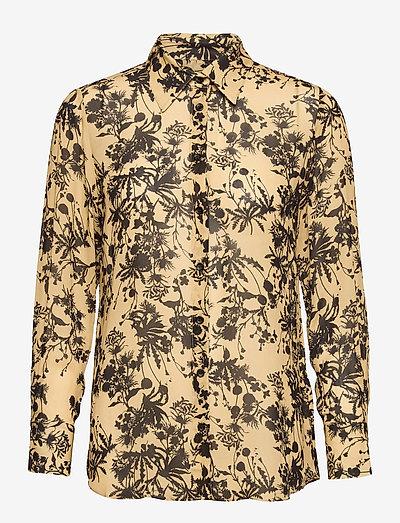 3430 - Latia Long - langærmede skjorter - pale yellow